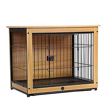 liangzishop Cage Chien Pet Crate End Table en Bois de Chien Cage Clôture de Chien d'intérieur Maison Lit for Chien Chat Cage Lapin Chenils (Size : L)