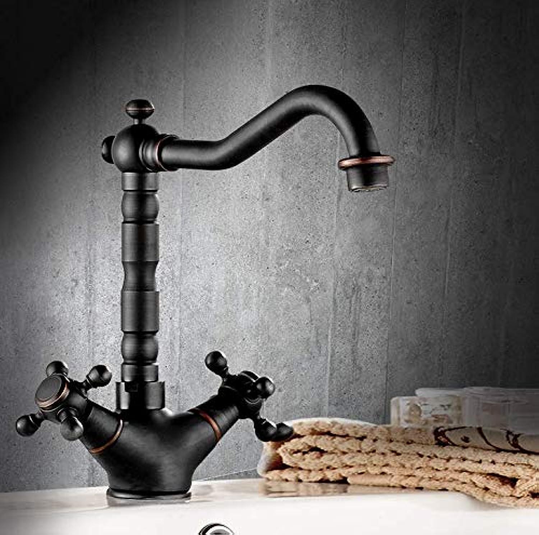 Black Bathroom Above Counter Basin wash Basin Basin Copper European Bathroom Faucet hot and Cold high Faucet