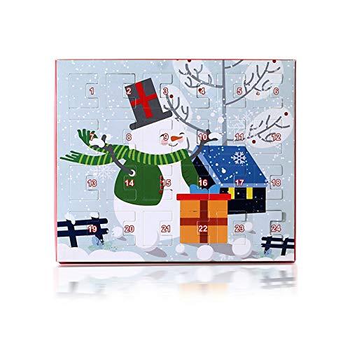 TIANLIANG Juego de collar y pendientes de Navidad, set de caja de regalo, diseño de gota de aceite, pendientes de Navidad para mujer
