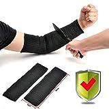 UN Par Anticortes anti abrasión puñalada resistente Protector Guardia de Brazo del alambre de acero