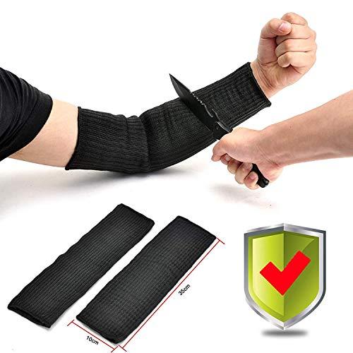 UN Par Anticortes Anti Abrasión Puñalada Resistente Protector Guardia Brazo Alambre Acero Antebrazo Tirador Anti-Cortar