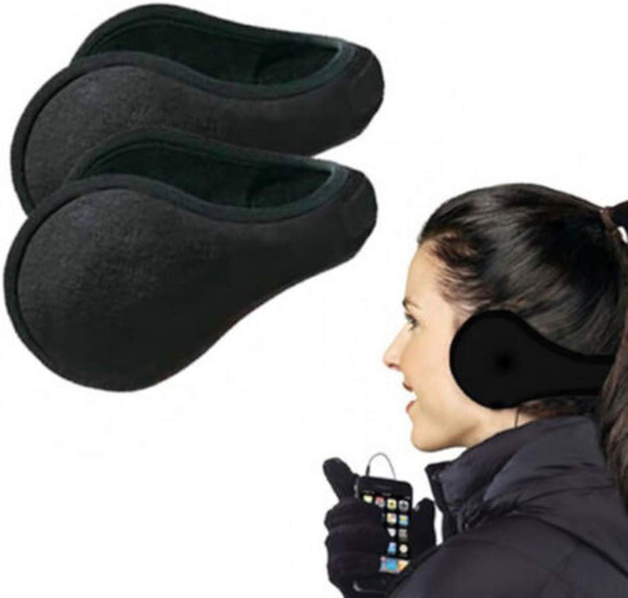 2 Ear Muffs Winter Ear warmers Fleece Earwarmer Mens Womens Behind the Head Band