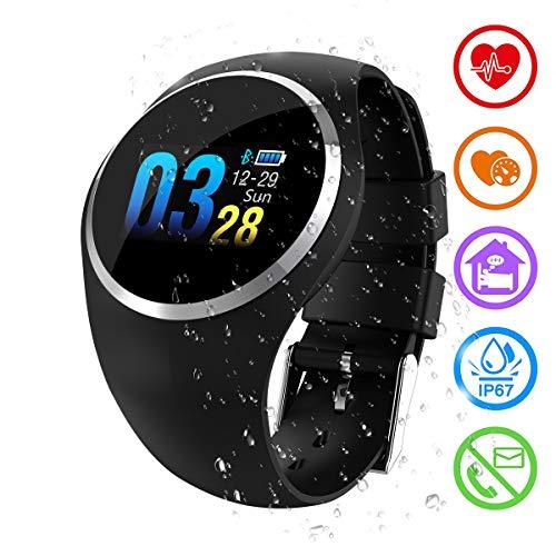 Zeerkeer Smartwatch Fitness Smart Armband Armband IP67 wasserdicht Blutdrucküberwachung Passometer Herzfrequenz Tracker mit Farbdisplay Frauen Männer Smart Watch