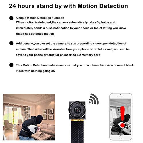 RZATU Mini Hidden Camera WiFi Small Portable Spy Camera Wireless Nanny Camera Indoor Video Recorder HD 1080P Home Monitoring Security Cam with Cell Phone App