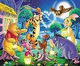 CXVXC puzzle 1000 piezas para adultos, Winnie the Pooh Anime Movie, Máxima calidad de impresión,juguetes clásicos rompecabezas, DIY rompecabezas para adultos - 75*50Cm