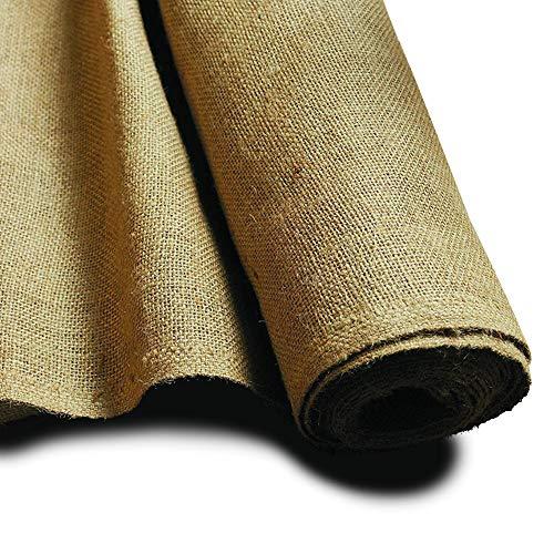 NOOR Jute-Zuschnitt Schwer 0,9 x 5 m I Premium Juterolle zum Adventskalender selber basteln, als Deko-Material oder als Frostschutz für Pflanzen I Jute-Winterschutz für Topf- und Kübelpflanzen I Natur