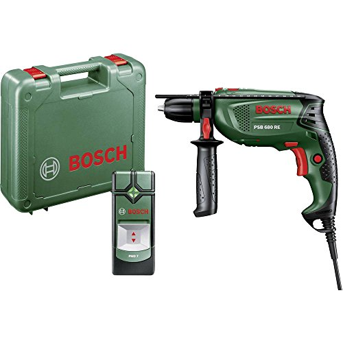 Bosch Home and Garden PSB 680 RE + PMD 7 1-Gang-Schlagbohrmaschine 680W inkl. Koffer, inkl. Ortungsg