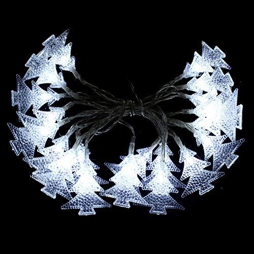 Juguetes Industriales S.A. Luces de Navidad led con 20 Luces Flash Blancas de pinos a Pilas de 220 cm - LOLAhome