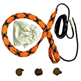 YOURBORE Gun bore Cleaning Snake Rope kit Circular Run .22,5.56,3 Muzzle Covers Coton Storage Bag