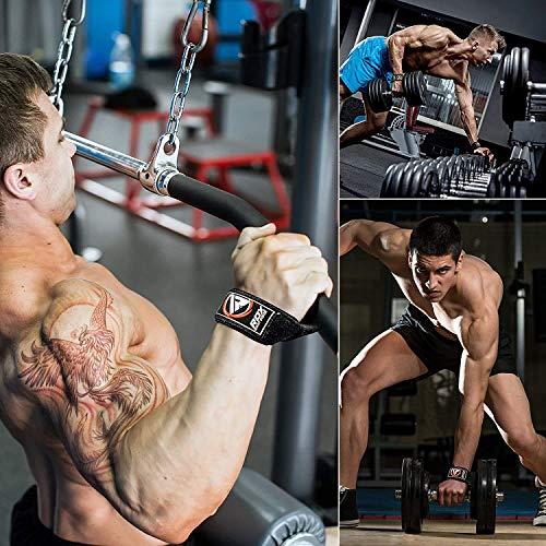 Authentisch RDX Training Gewichtheber Griffe Fitness Handgelenk Stütze Handgelenkbandage W1B - 4