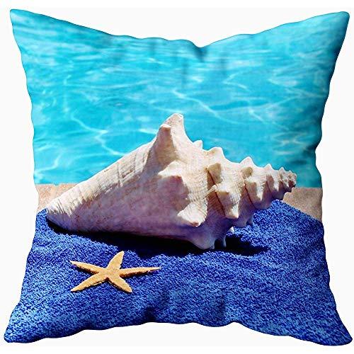 July kussenslopen vakantie zwembad handdoek schelp schaal zeester, beige groen