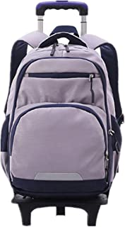 Student Luggage Backpack Large Capacity with Wheels(Silver/2 Wheels)