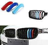 Muchkey per 3 Serie F30 F31 F35 (8 Griglie) Rene griglia radiatore 3D m Styling griglia Anteriore Insert Trim Motorsport Strisce griglia di Performance Adesivi