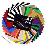 HTV Heat Transfer Vinyl Bundle: 47...