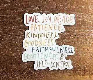 Fruit of the spirit Christian sticker for a hydro flask, laptop, water bottle * waterproof vinyl aesthetic sticker * love joy peace kindness