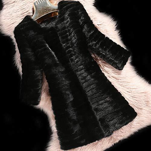 YRFDM Warmer Mantelm, Damen Mantel Jacke mit Futter Winter Damen Oberbekleidung Mäntel Mantel, Dreiviertel Ärmel, L