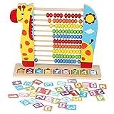 DERCLIVE Soporte de madera para niños con diseño de animales para educación...