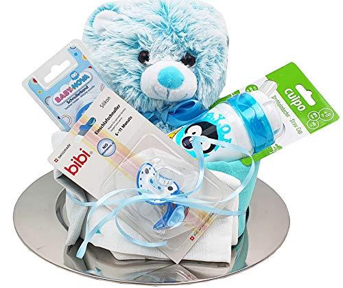 Windeltorte mit Baby Teddy Stoffwindeln Trinkbecher Schnuller uvm