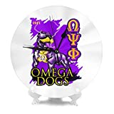 Omega Psi Phi Round Wall Clock Silent Battery Operated No Noise Office Kitchen Bedroom Wall Clock Home Decoration