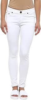 American Crew Women's Slim Fit White Jeans