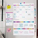 Lemecima 3 pc calendario nevera pizarra magnética nevera magnética semanal para - ideal planes of menú, recordatorio, lista de la compra - pizarra magnética incluye 3 rotuladores de color, 4 imán