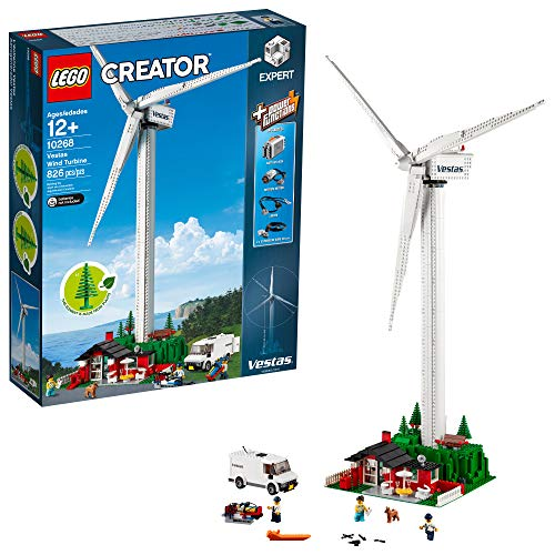 LEGO Creator Expert Vestas Wind Turbine 10268 Building Kit, New 2019 (826 Pieces)