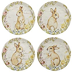Dessert plates with bunny images for Easter