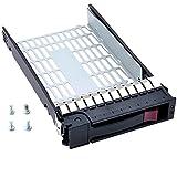 RGBS 373211-001 - Bandeja para Disco Duro SATA SAS (3,5', para HP Compaq ProLiant ML350 G4p ML350 G5 G6 ML370 G5 DL 180 G6, con 4 Tornillos)