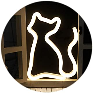 LED Neon Light Signs,Wall Decor Holiday Decor Light for Kids' Room Decorations Birthday Party Light (cat)
