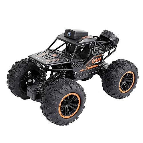 HZK All-Terrain High-Speed Off-Road Climbing Car, Can Connect to WiFi HD Camera Remote Control Car, 1/18 Alloy Bigfoot Car Children's Toy, The Best WDDT