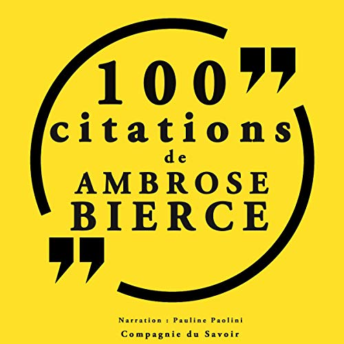 Couverture de 100 citations d'Ambrose Bierce
