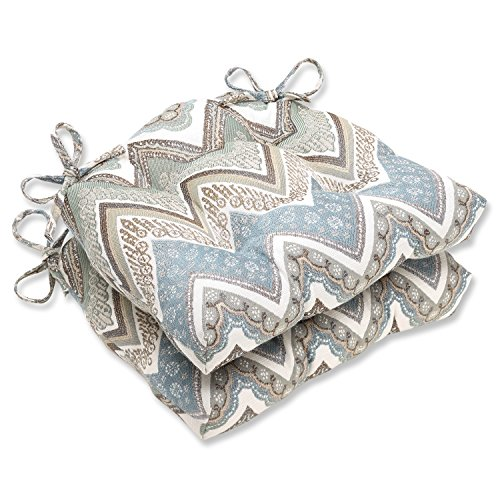 Pillow Perfect Cottage Reversible Chair Pad, Mineral