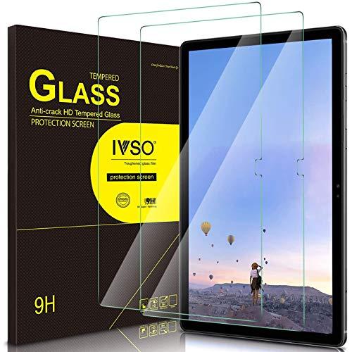 IVSO Bildschirmschutz Kompatibel mit Samsung Galaxy Tab A7 10.4 2020, 9H Festigkeit, 2.5D Panzerglas, Samsung Galaxy Tab A7 T505/T500/T507 10.4 Zoll 2020, (2 x)