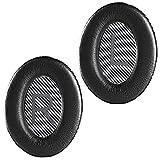 QuietComfort 35 II - Almohadillas de repuesto para auriculares inalámbricos Bose QuietComfort 35 II (Serie I), color negro y gris