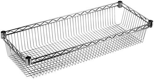 ARCHIMEDE système composable Étagère Rangement, métal, chromé, 121 x 36 x 15 CM