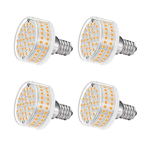 LED Leuchtmittel E14 9W,Flach Rund,88 LED-Chips,Ersatz 90W E14 Halogenlampen,3000K Warmweiß,900 LM,360 Grad Abstrahlwinkel,AC 220-240V,Nicht Dimmbar,4 Stück