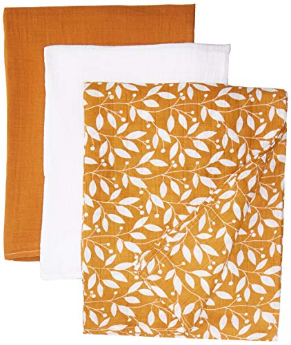 """June B. & Co. Swaddle Blankets, Set of 3, 100% Organic Cotton, Large 47""""x 47"""""""