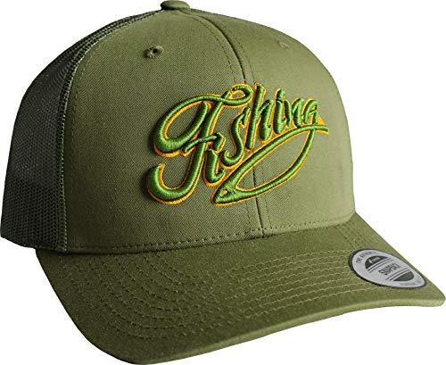 Baddery Cap: Fishing - Angler-Hut - Geschenk für Angler - Angelbekleidung - Cap für Angler - Anglermütze - Anglerin - Angler-Mütze - Angeln Köder Fisch Fischen Verein - Trucker Cap (One Size)
