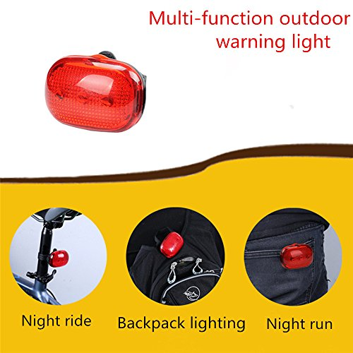 Glumes Rear Bike Light|Ultra Bright Powerful Safety Taillight|High Intensity Rear LED Accessories | LED Inductive Warning Lights|3 LED|Waterproof|for all Bikes/Helmets (Red)