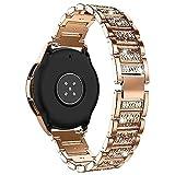 AISPORTS Compatibile per Huawei Watch GT2 42mm Cinturino, 20mm a Sgancio Rapido Glitter Gioielli con Diamanti Cinturino di Ricambio in Metallo per Garmin Vivoactive 3/Vivomove HR/Forerunner 245/645