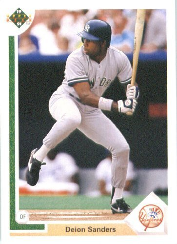1991 Upper Deck # 352 Deion Sanders New York Yankees - MLB Baseball Trading Card