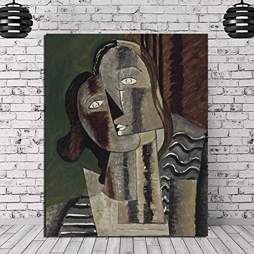 HGlSG (No Frame) 40x60cm Leinwanddrucke High Definition Porträt Poster Wandkunst Wohnkultur Hundertwasser Retro Modular Painting Bilder Raumrahmen