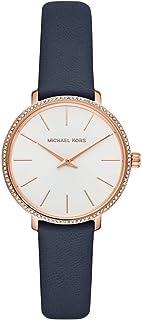 Michael Kors Pyper Women's White Dial Leather Analog Watch - MK2804