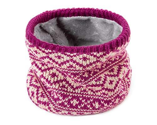Bufanda de anillo de invierno para mujeres hombres bufanda gruesa lana cuello terciopelo bufandas niños niñas cuello bufanda de algodón unisex