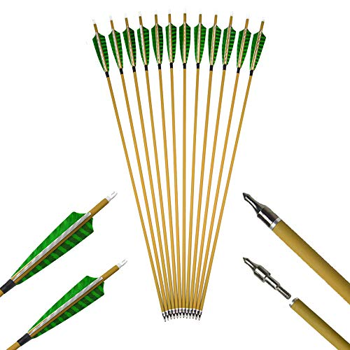 AMEYXGS 6pcs Jagd Pure Carbon Pfeile 31 Zoll Bogenschie/ßen /Übungspfeile Spine 400 Zielpfeile f/ür Recurve Bogen und Traditioneller Bogen