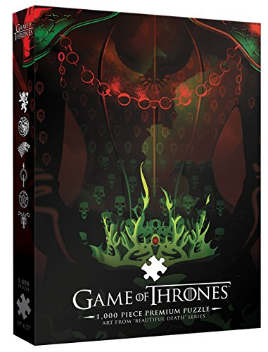 USAopoly GAME OF THRONE PREMIUM PUZZLE: Long May She Reign 1000 Piece Puzzle | A Beautiful Death Series Art Collectable Jigsaw Puzzles