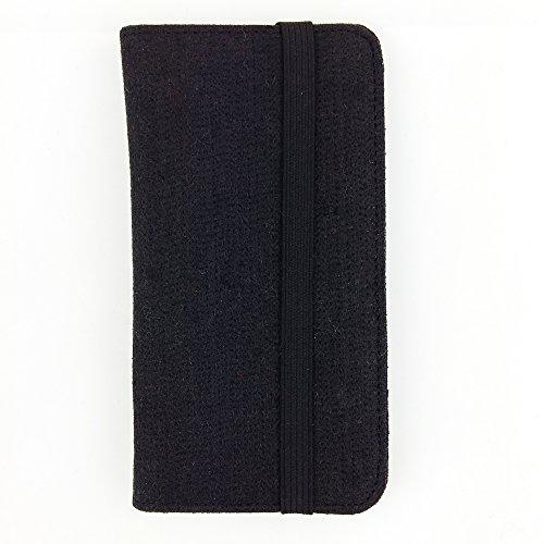 handy-point Universell Organizer für Smartphone Tasche aus Filz Filztasche Filzhülle Hülle Schutzhülle mit Kartenfach für Samsung, iPhone, Huawei (5,6-6,4 Zoll max 18 x 9,3 m, Schwarz)