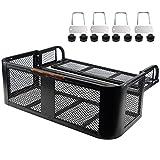 BIGTUR Universal ATV/UTV Rear Drop Basket, Detachable Cargo Carrier Steel Rack Luggage Basket Mesh Surface