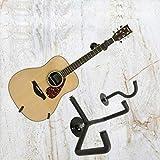 MagiDeal Colgador de Pared Guitarra Horizontal Soporte de Pared Seguridad Slatwall Negro