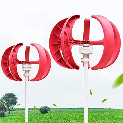 MOMOJA Windgenerator Wind Generator Vertikale Windkraftanlage mit 5 Blätter Windkraftanlage mit Controller 12V/600W